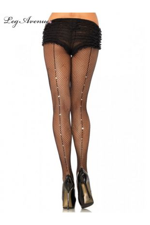 Leg Avenue Rhinestone Backseam Fishnet Stockings - Little Shop of Horrors Costumery - Mornington - Frankston