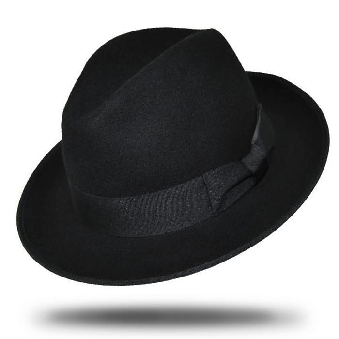 e4af4c99dee409 Deluxe Wool Gangster Hat Fedora - Available online and instore at Little  Shop of Horrors Costumery