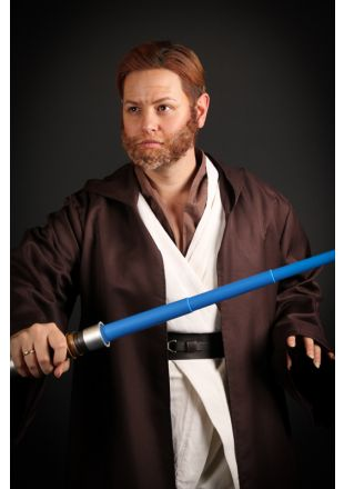 Obi Wan Kenobi custom quality replica Jedi Master fancy dress costume from the Disney Lucasfilms Star Wars Universe - Little Shop of Horrors Costumery - Costume Hire Shop - The highest quality costume and fancy dress hire available in Melbourne