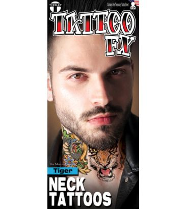Neck Tattoo: Tiger