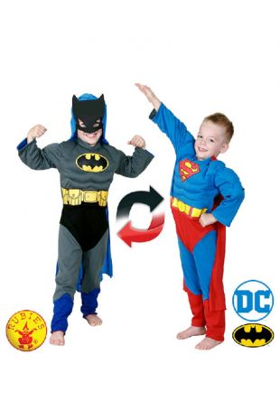 Batman & Superman Officially Licensed DC Comics Costume - Buy Online with Afterpay, Paypal or Layby at Little Shop of Horrors Costumery - Costume Shop Melbourne