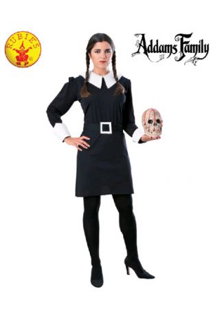 Wednesday Addams Costume, Officially Licensed Addams Family Costume - Buy Online with Afterpay, Paypal or Layby at Little Shop of Horrors Costumery - Costume Shop Melbourne