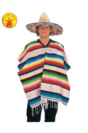MEXICAN PONCHO, ADULT