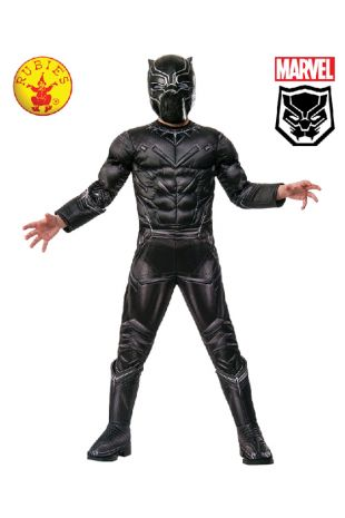 Black Panther Avengers Costume available to buy with Afterpay, Paypal or Layby at Little Shop of Horrors Costumery - The best costume shop in Melbourne