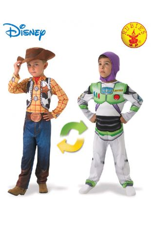 Toy Story Woody & Buzz Officially Licensed Disney Costume - Buy Online with Afterpay, Paypal or Layby at Little Shop of Horrors Costumery - Costume Shop Melbourne