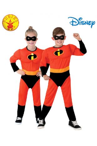 The Incredibles Officially Licensed Disney Costume - Buy Online with Afterpay, Paypal or Layby at Little Shop of Horrors Costumery - Costume Shop Melbourne