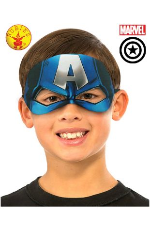 Captain America Eyemask buy online from the best costume shop in Melbourne Little Shop of Horrors Costumery