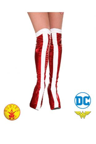 Wonder Woman Boot Tops, Officially Licensed DC Comics Costume - Buy Online with Afterpay, Paypal or Layby at Little Shop of Horrors Costumery - Costume Shop Melbourne