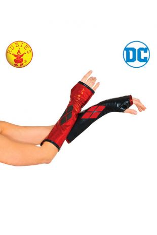 Harley Quinn Gauntlets Officially Licensed DC Comics - Buy Online with Afterpay, Paypal or Layby at Little Shop of Horrors Costumery - Costume Shop Melbourne