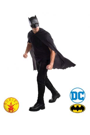 Batman Officially Licensed DC Comics Mask and Cape  Set - Buy Online with Afterpay, Paypal or Layby at Little Shop of Horrors Costumery - Costume Shop Melbourne