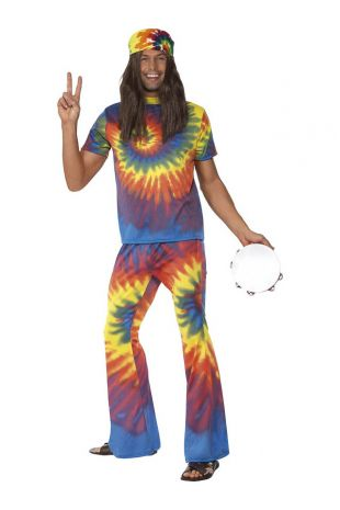 1960's Tie Dye Top and Flared Trousers