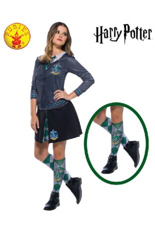 Slytherin Socks - Harry Potter Officially Licensed Costume - Buy Online with Afterpay, Paypal or Layby at Little Shop of Horrors Costumery - Costume Shop Melbourne