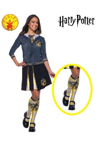 Hufflepuff Socks - Harry Potter Officially Licensed Costume - Buy Online with Afterpay, Paypal or Layby at Little Shop of Horrors Costumery - Costume Shop Melbourne