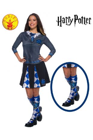Ravenclaw Socks - Harry Potter Officially Licensed Costume - Buy Online with Afterpay, Paypal or Layby at Little Shop of Horrors Costumery - Costume Shop Melbourne