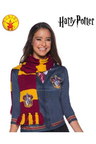 Gryffindor Scarf - Harry Potter Officially Licensed Costume - Buy Online with Afterpay, Paypal or Layby at Little Shop of Horrors Costumery - Costume Shop Melbourne