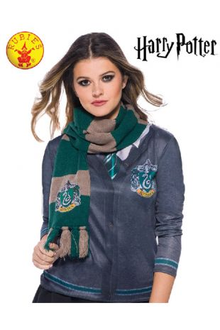 Slytherin Scarf - Harry Potter Officially Licensed Costume - Buy Online with Afterpay, Paypal or Layby at Little Shop of Horrors Costumery - Costume Shop Melbourne