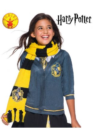 Hufflepuff Scarf - Harry Potter Officially Licensed Costume - Buy Online with Afterpay, Paypal or Layby at Little Shop of Horrors Costumery - Costume Shop Melbourne