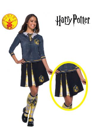 Hufflepuff Skirt - Harry Potter Officially Licensed Costume - Buy Online with Afterpay, Paypal or Layby at Little Shop of Horrors Costumery - Costume Shop Melbourne