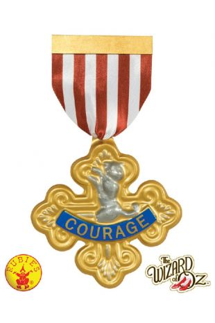 Wizard of Oz Officially Licensed Lion's Courage Badge - Buy Online with Afterpay, Paypal or Layby at Little Shop of Horrors Costumery - Costume Shop Melbourne