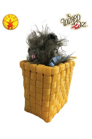 Wizard of Oz Officially Licensed Toto in a Basket - Buy Online with Afterpay, Paypal or Layby at Little Shop of Horrors Costumery - Costume Shop Melbourne