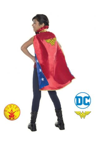 Wonder Woman Cape, Officially Licensed DC Comics Costume - Buy Online with Afterpay, Paypal or Layby at Little Shop of Horrors Costumery - Costume Shop Melbourne