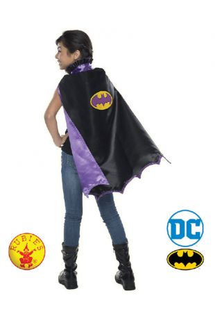 Batgirl Officially Licensed DC Comics Childs Cape- Buy Online with Afterpay, Paypal or Layby at Little Shop of Horrors Costumery - Costume Shop Melbourne