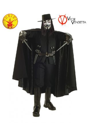 V For Vendetta Collectors Edition Costume available to buy with Afterpay, Paypal or Layby at Little Shop of Horrors Costumery - The best costume shop in Melbourne