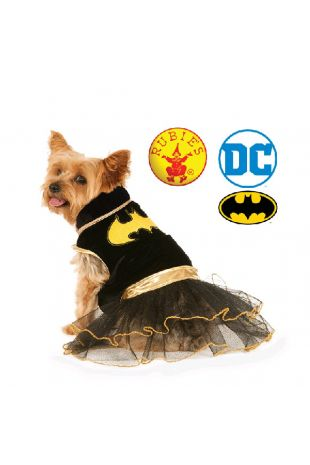 Batgirl Officially Licensed DC Comics Pet Costume - Buy Online with Afterpay, Paypal or Layby at Little Shop of Horrors Costumery - Costume Shop Melbourne
