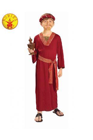 WISEMAN BURGUNDY COSTUME, CHILD