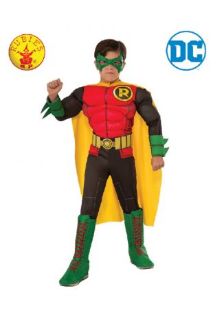 Robin, Batman Officially Licensed DC Comics Costume - Buy Online with Afterpay, Paypal or Layby at Little Shop of Horrors Costumery - Costume Shop Melbourne