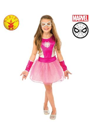 Spidergirl Childs Costume available to buy with Afterpay, Paypal or Layby at Little Shop of Horrors Costumery - The best costume shop in Melbourne