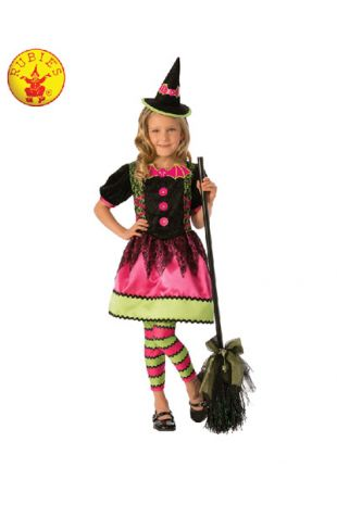 Bright Witch Costume, Spooky Halloween Costume, available to buy with Afterpay, Paypal or Layby at Little Shop of Horrors Costumery - The best costume shop in Melbourne
