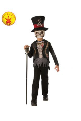 Voodoo Boy Costume, Spooky Halloween Costume, available to buy with Afterpay, Paypal or Layby at Little Shop of Horrors Costumery - The best costume shop in Melbourne