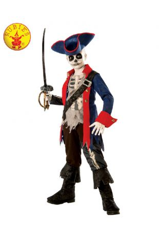 Captain Bones Pirate Kids Halloween Costume - Buy Online with Afterpay, Paypal or Layby at Little Shop of Horrors Costumery - Costume Shop Melbourne