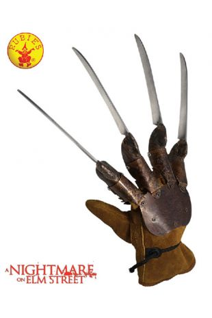 Freddy Krueger Glove, Officially Licensed Nightmare on Elm St Costume - Buy Online with Afterpay, Paypal or Layby at Little Shop of Horrors Costumery - Costume Shop Melbourne