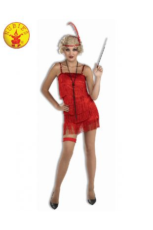 FLAPPER DELUXE RED COSTUME, ADULT