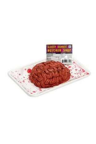 Butcher wrapped and ready to serve! Give your Trick or Treaters a GOREY fright this Halloween, add this Human Heart Banquet Halloween Prop to your haunt decorations!