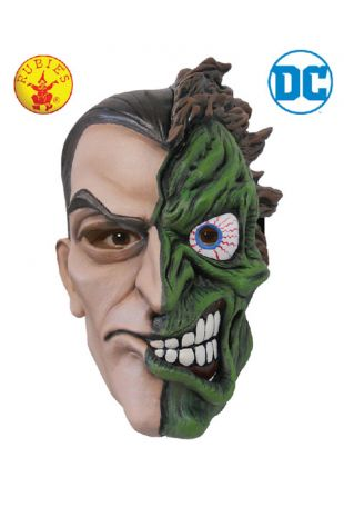 Two Face Mask Officially Licensed DC Comics Childs - Buy Online with Afterpay, Paypal or Layby at Little Shop of Horrors Costumery - Costume Shop Melbourne