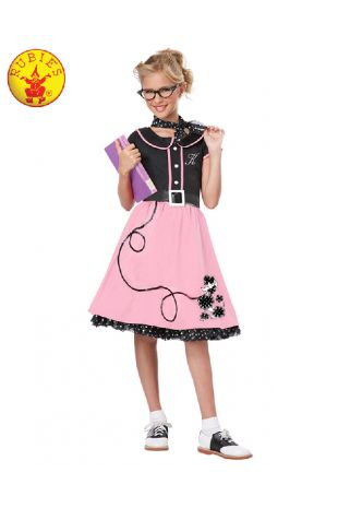 50'S BOPPER GIRL COSTUME, CHILD