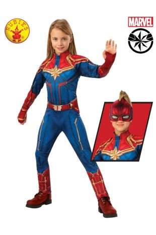 CAPTAIN MARVEL DELUXE HERO SUIT, CHILD