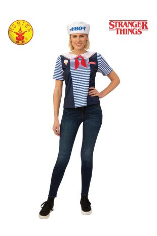 STRANGER THINGS ROBIN SCOOPS AHOY COSTUME, ADULT