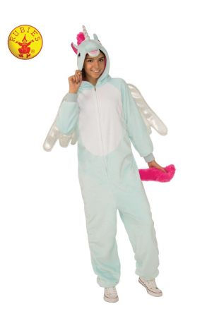 PEGACORN FURRY ONESIE COSTUME, ADULT UNISEX
