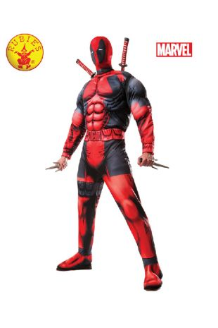 Deadpool Costume available to buy with Afterpay, Paypal or Layby at Little Shop of Horrors Costumery - The best costume shop in Melbourne