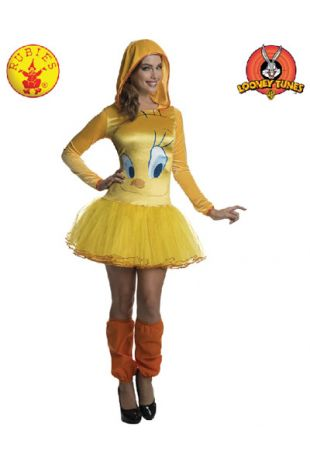 Tweety Bird Costume, Officially Licensed Looney Tunes Costume, available to buy with Afterpay, Paypal or Layby at Little Shop of Horrors Costumery - The best costume shop in Melbourne