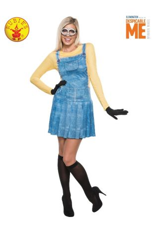 MINION FEMALE COSTUME, ADULT