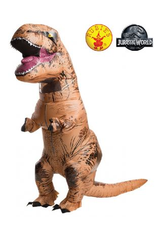 Jurassic World T-Rex Inflatable Costume buy online from the best costume shop in Melbourne Little Shop of Horrors Costumery