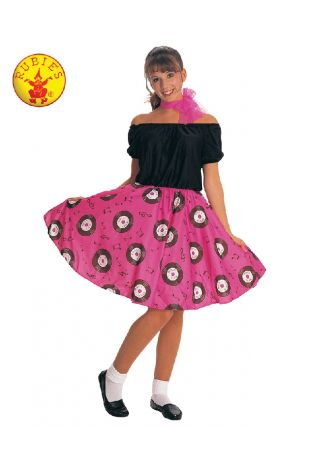 50'S POODLE DRESS COSTUME, ADULT