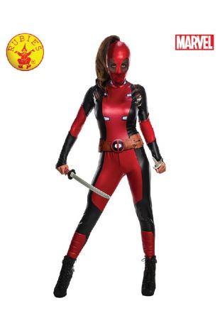 Lady Deadpool Costume available to buy with Afterpay, Paypal or Layby at Little Shop of Horrors Costumery - The best costume shop in Melbourne