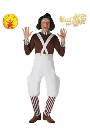 Willy Wonka Oompa Loompa Officially Licensed Costume - Buy Online with Afterpay, Paypal or Layby at Little Shop of Horrors Costumery - Costume Shop Melbourne