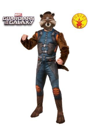 Rocket Guardians of the Galaxy Avengers Costume available to buy with Afterpay, Paypal or Layby at Little Shop of Horrors Costumery - The best costume shop in Melbourne